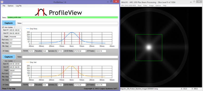 ProfileView beam processing