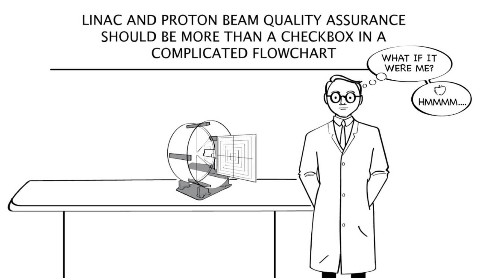 Linac and proton beam quality assurance should be more than a checkbox in a complicated flowchart.